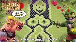getlinkyoutube.com-Clash of Clans Town Hall 9 Sexiest Base Ever! Best Defensive/Trophy Base - Troll Base Funny