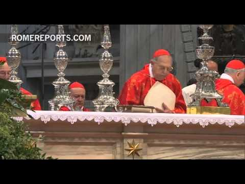 Mass to elect  Pope celebrated in  St  Peter's Basilica