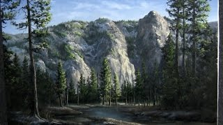 getlinkyoutube.com-Paint with Kevin Hill - Yosemite Valley