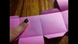 getlinkyoutube.com-Como hacer una caja de papel sin plantilla/ DIY/ CAja en origami/ caja Scrapbook :)