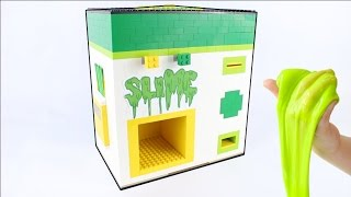 getlinkyoutube.com-Lego Slime Maker | Slime Vending Machine