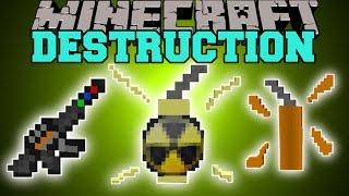 getlinkyoutube.com-Minecraft: DESTRUCTION (INSTA KILL GUN, INSANE DYNAMITE, & NUCLEAR BOMB!) Mod Showcase