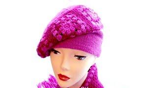 getlinkyoutube.com-Берет крючком crochet hat