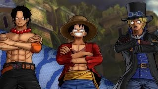 getlinkyoutube.com-One Piece: Burning Blood - FULL MATCH Luffy, Ace, and Sabo Gameplay