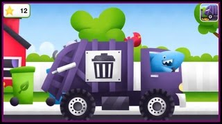 getlinkyoutube.com-TRUCKS! Kids 3D Puzzles: GARBAGE TRUCKS Build & Play ipad App Demo /Дети построить
