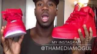 getlinkyoutube.com-All Red Air Force Ones, Custom paint by @Tvche_