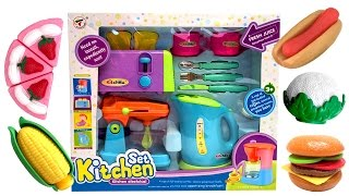 getlinkyoutube.com-★ Cooking Toys For Kids ★ Toy Kitchen Set Cooking Playset For Children Play Ketter Toaster Mixer