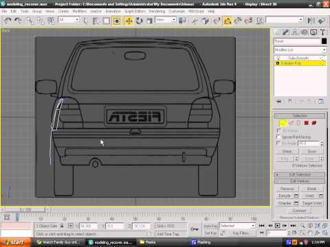 Modeling a car in 3ds max - Episode 8 - Rear Wing
