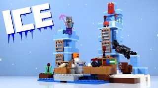 getlinkyoutube.com-LEGO Minecraft The Ice Spikes Set 21131 with Spider & Baby Cow!