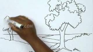 getlinkyoutube.com-How to Draw a Natural Landscape
