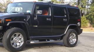"getlinkyoutube.com-Review of 2008 Hummer H2~Black & Sedona~Navigation~DVD~New 2009 20"" Rims~ONLY 1,945 MIles"