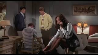 getlinkyoutube.com-Pantyhose feet - gorgeous young Jacqueline Bisset in The First Time (1969)