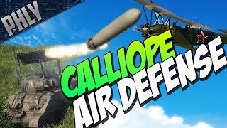getlinkyoutube.com-War Thunder -  T34 Calliope VS Planes! ROCKET AIR DEFENSE!