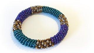 Como hacer pulseras con abalorios. Fashion bracelet