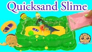 Dinosaur Quicksand Slime Pit Kit with Disney Frozen Queen Elsa and Shopkins - Cookieswirlc