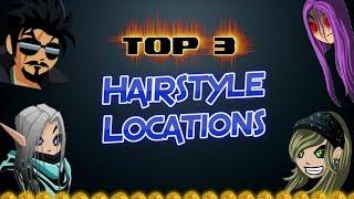 getlinkyoutube.com-TOP 3 ✰ HAIRSTYLE LOCATIONS IN AQW 2016