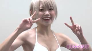 getlinkyoutube.com-ヤングアニマル【NEXTグラビアクイーンバトル4thシーズン】篠崎こころ 体力測定