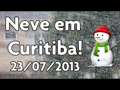 Neve em Curitiba 23/07/2013 @ Xaxim - HD
