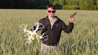 getlinkyoutube.com-Syma X8C Venture quadrocopter and GoPro - flight. https://www.banggood.com/