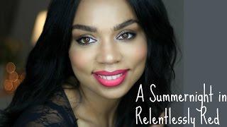 getlinkyoutube.com-Summer Make Up Tutorial with MAC's Relentlessly Red