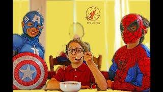 getlinkyoutube.com-Little Superheroes 4 - Superhero Training Video With Spiderman, Supergirl and Captain America