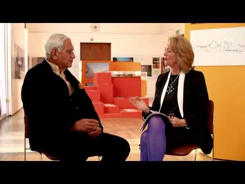Charles Correa in conversation with RIBA President Angela Brady