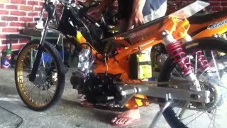 getlinkyoutube.com-Yamaha jupiter drag bike 130cc tune up by s'ko concept ponorogo
