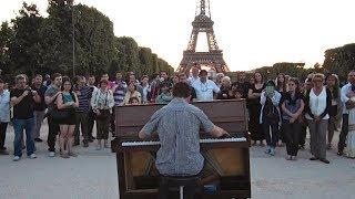 getlinkyoutube.com-Amazing Street Pianist at the Eiffel Tower | Europe Episode #8