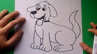 getlinkyoutube.com-Como dibujar un perro paso a paso 8 | How to draw a dog 8