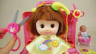 getlinkyoutube.com-Baby Doll hair shop play set toys
