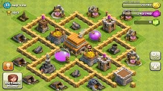 getlinkyoutube.com-Town Hall Level 5 Defense  Best Strategy for Clash of Clans Design Layout