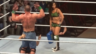WWE John Cena & Vickie Guerrero funny moment live in Cardiff Wales UK 2013