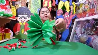 getlinkyoutube.com-POMPON DE PAPEL CHINA PARA FIESTAS PATRIAS