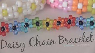 getlinkyoutube.com-Daisy Chain Bracelet - Beaded Flower Jewelry - How To