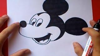 getlinkyoutube.com-Como dibujar a Mickey Mouse paso a paso 2 - Disney | How to draw Mickey Mouse 2 - Disney