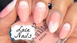getlinkyoutube.com-Bridal Lace Nails by The Crafty Ninja