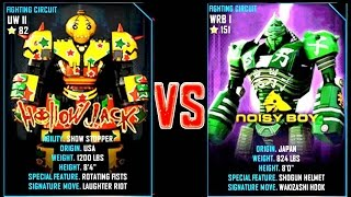 getlinkyoutube.com-REAL STEEL WRB Hollowjack VS Noisy Boy New Robots GOLD UPDATE (Живая сталь)