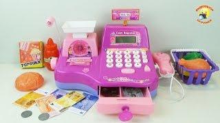 getlinkyoutube.com-Кассовый аппарат - детский игровой набор для девочек / Cash register - Children's set for girls