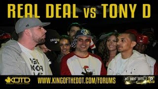 KOTD Rap Battle &#8211; Real Deal vs Tony D