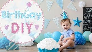 getlinkyoutube.com-★ DIY ★ Первый день рождения | Ребенку 1 год