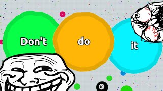 "AGARIO TROLLING IN TEAMMODE // ""Don't do it"" // Agar.io"