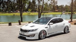 "getlinkyoutube.com-2013 Kia Optima on 20"" Avant Garde F431 / AG Wheels"