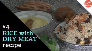 getlinkyoutube.com-Qabuli Pulao with Afghan Dry meat 'Afghan Cuisine'