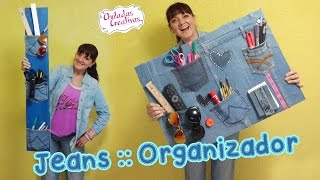 getlinkyoutube.com-Chuladas Crativas :: Organizador con Jeans :: Sammily Manualidades
