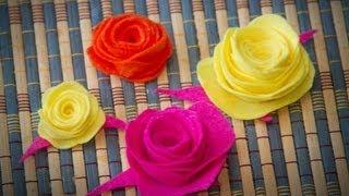 getlinkyoutube.com-Flores de Fieltro, Manualidad de Tela Facil