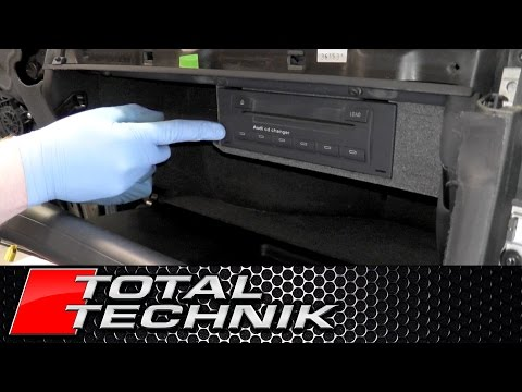 How to Remove CD Changer (Glove Box Model) - Audi A4 S4 RS4 - B6 B7 - TOTAL TECHNIK