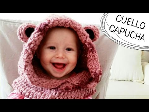 Cuello con Capucha de Osito a Crochet - TODAS LAS TALLAS (English Subtitles)