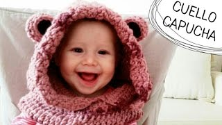 getlinkyoutube.com-Cuello con Capucha de Osito a Crochet - TODAS LAS TALLAS (English Subtitles)