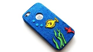 getlinkyoutube.com-DIY Fish - Glitter Cell Case