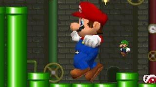 getlinkyoutube.com-New Super Mario Bros DS - Mario vs Luigi Mode (All Stages)